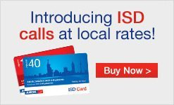Aircel ISD Rate-cutters / Offers / Packs