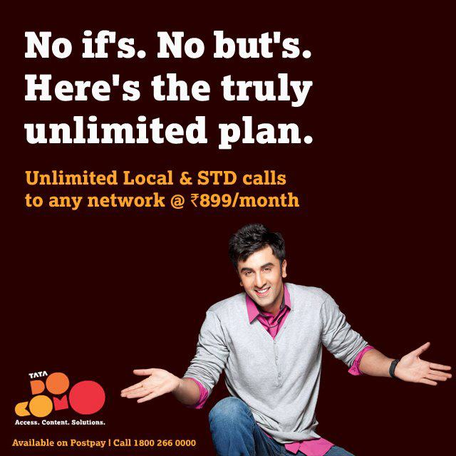 Tata DoCoMO Unlimited Plan @ Rs.899