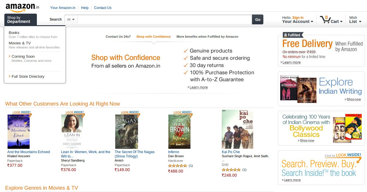 Amazon launches online marketplace in India