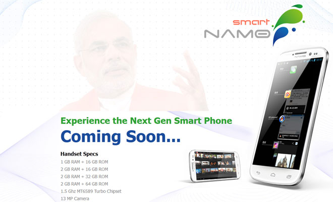 Coming Soon: A Smartphone To Honour Narendra Modi