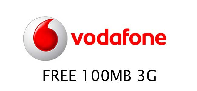 Get 100MB 3G data Vodafone Happy Hours (2pm – 4pm) Get free gifts