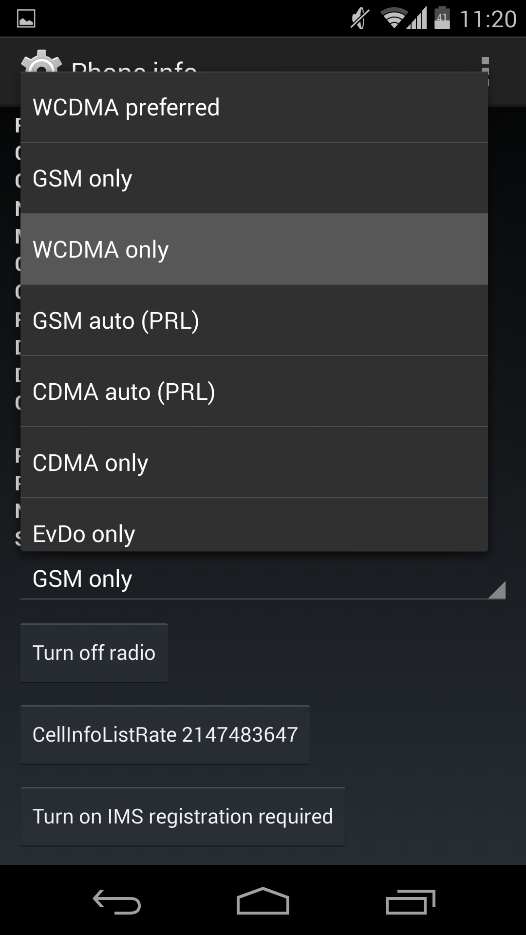 WCDMA Only