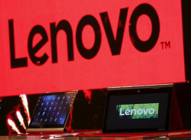 A Lenovo ultrabook and a tablet are displayed during a news conference in Hong Kong, China May 21, 2015.   REUTERS/Bobby Yip/Files