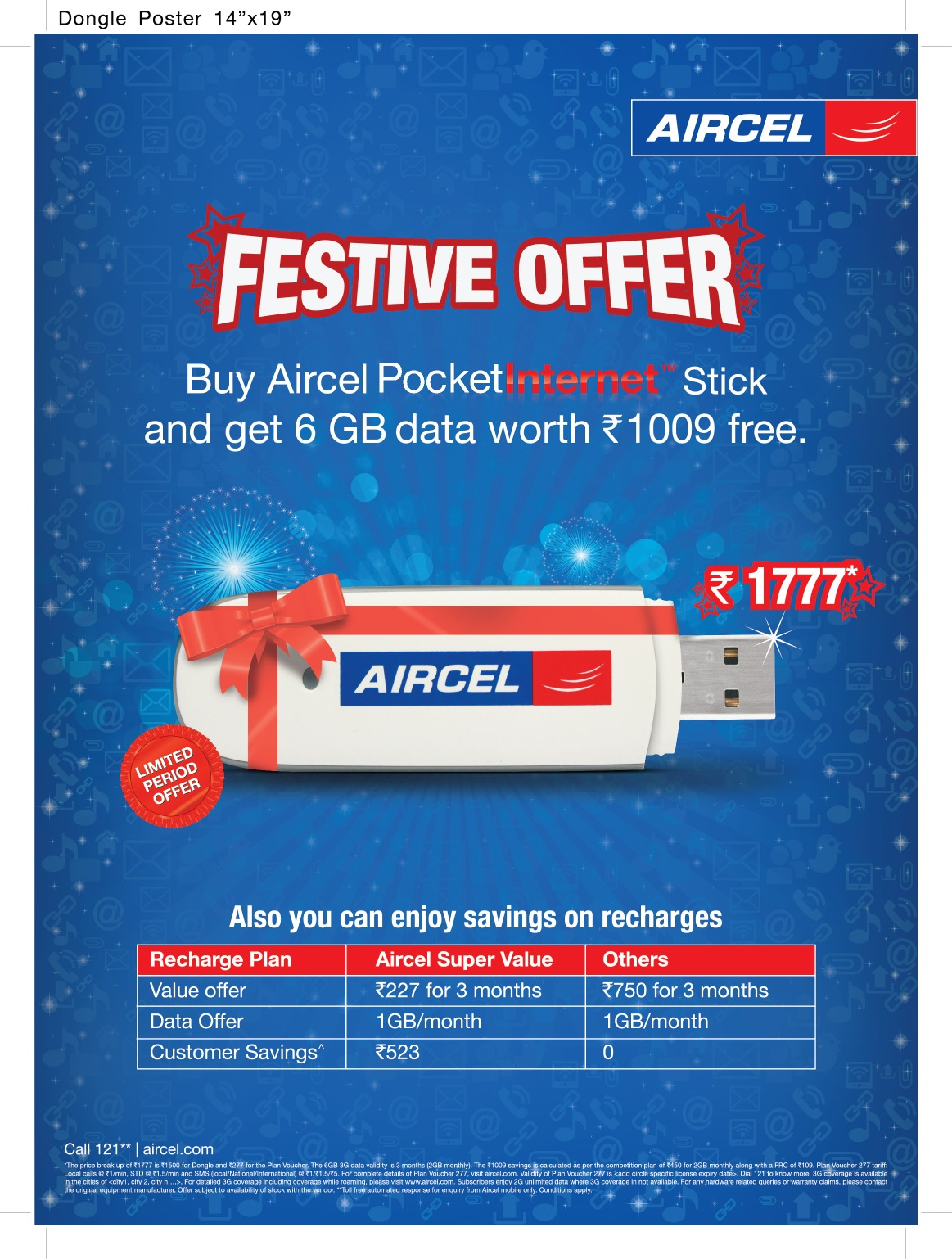 aircel introduces 3g dongle value pack - telecom clue™
