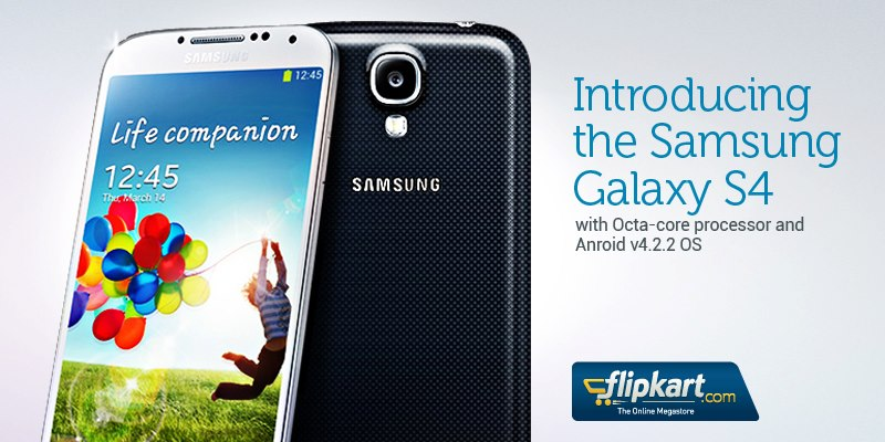 The Samsung Galaxy S4 is now available @ Flipkart.com