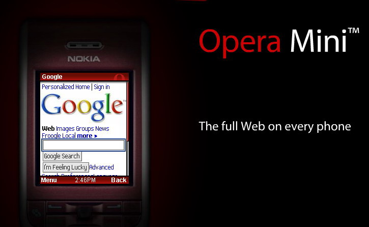 Opera Mini to be pre-installed on new mobile devices