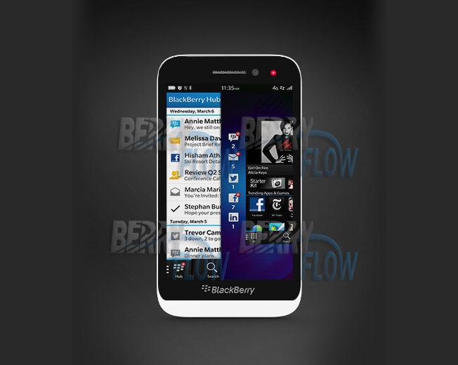 Leaked photos hint at BlackBerry Z5 in the making