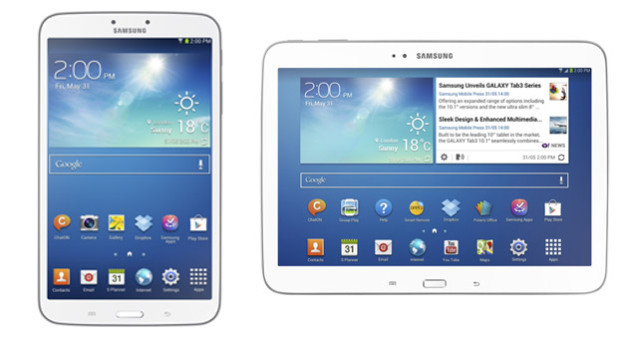 Samsung's two new Galaxy Tab 3 tablets for June launch