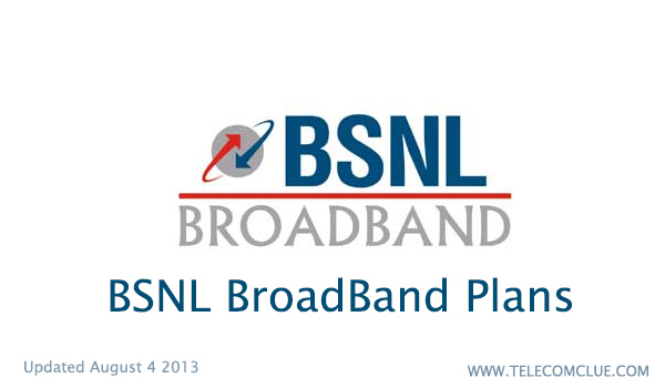 BSNL BroadBand Plans Updated