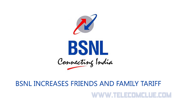 BSNL Increases Friends and Family Tariff
