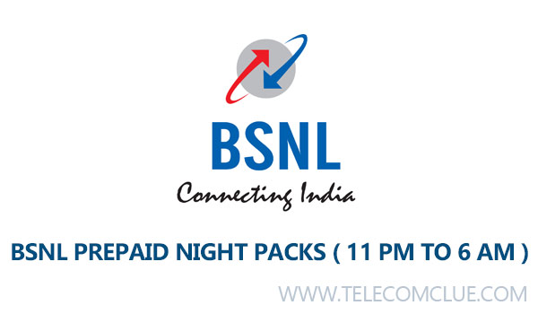 BSNL Prepaid Mobile Night Calling STV / Offers / Packs