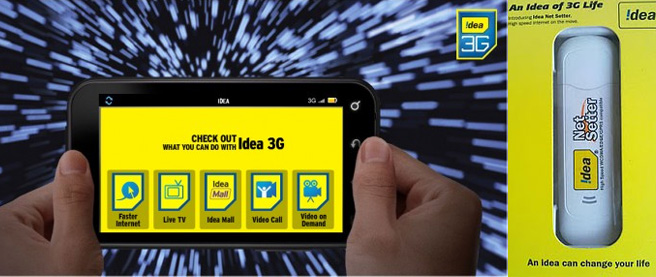 Idea launches 21.6 Mbps 3G Idea NetSetter at Rs. 2,160