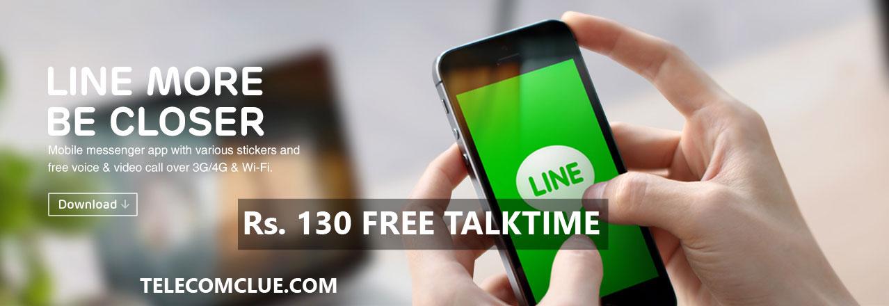 LINE Application Rs.130 FREE TALKTIME !!!!