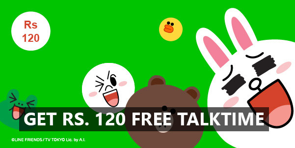 Line App Again with Rs. 120 Free Talktime !!