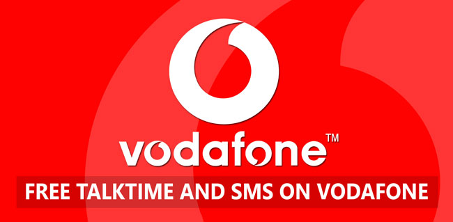 Get Free SMS and Talktime on Vodafone !!!