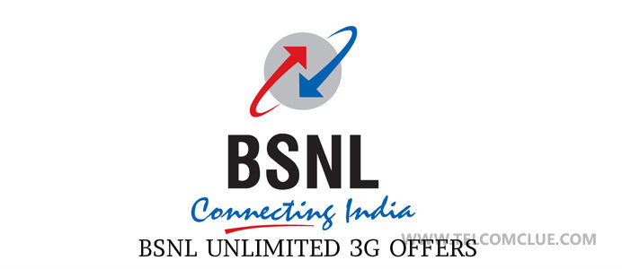 BSNL Unlimited 3g Data / Internet Packs Offers