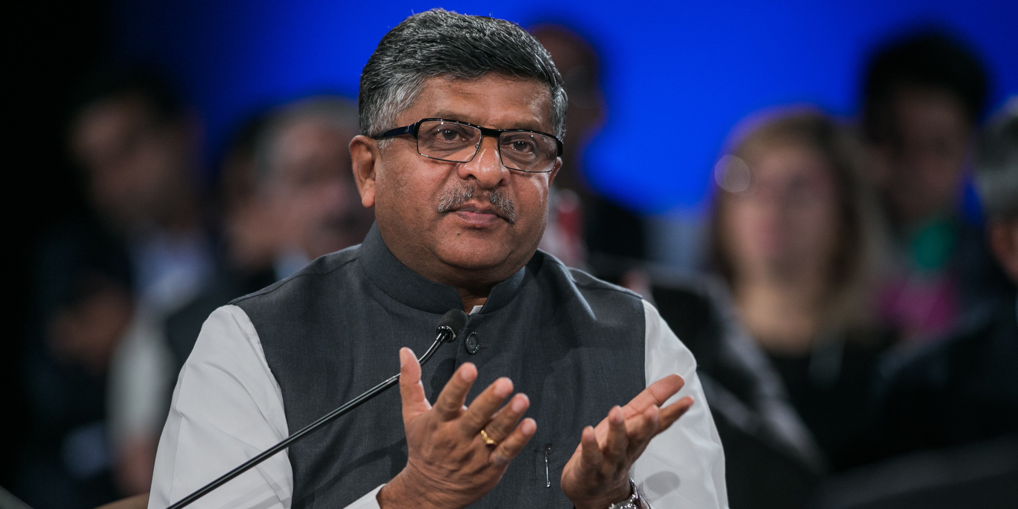 Ravi Shankar Prasad, Minister of Communications and Information Technology of India at the World Economic Forum - India Economic Summit 2014 in New Delhi, Copyright by World Economic Forum / Benedikt von Loebell