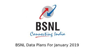 BSNL DATA PACKS JAN 2019